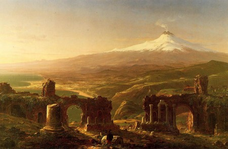 thomas cole journey of life. Thomas Cole, Mt. Aetna from