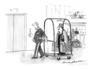 louisville bernard-schoenbaum-porter-in-hotel-with-man-in-baggage-rack-new-yorker-cartoon